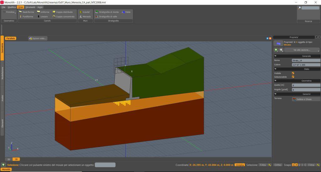 Opere di sostegno un focus su progettazione e verifica for Software di progettazione edilizia