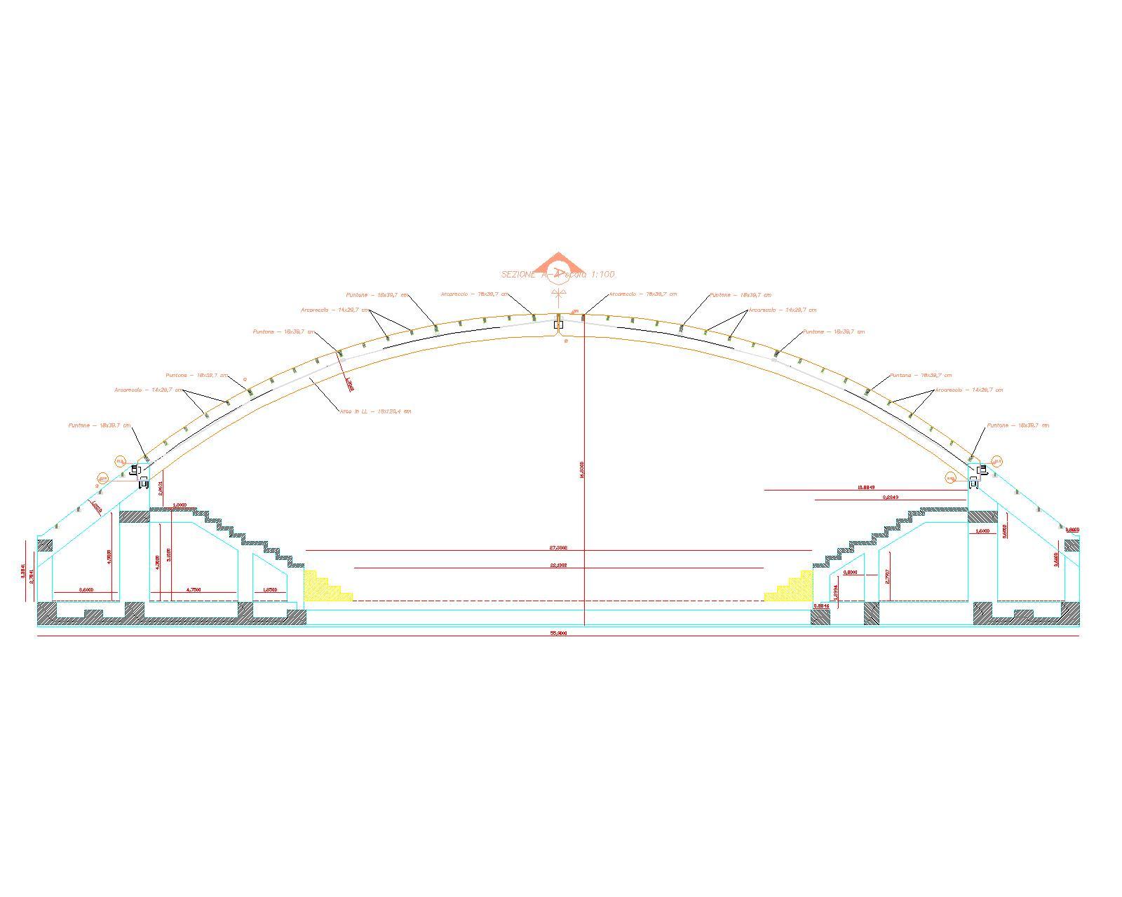 Sezione A Palazzetto Acri - fig.1