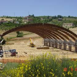 Fase di costruzione del Palazzetto - fig.3