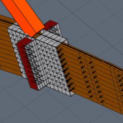 3D Dettaglio asola in legno