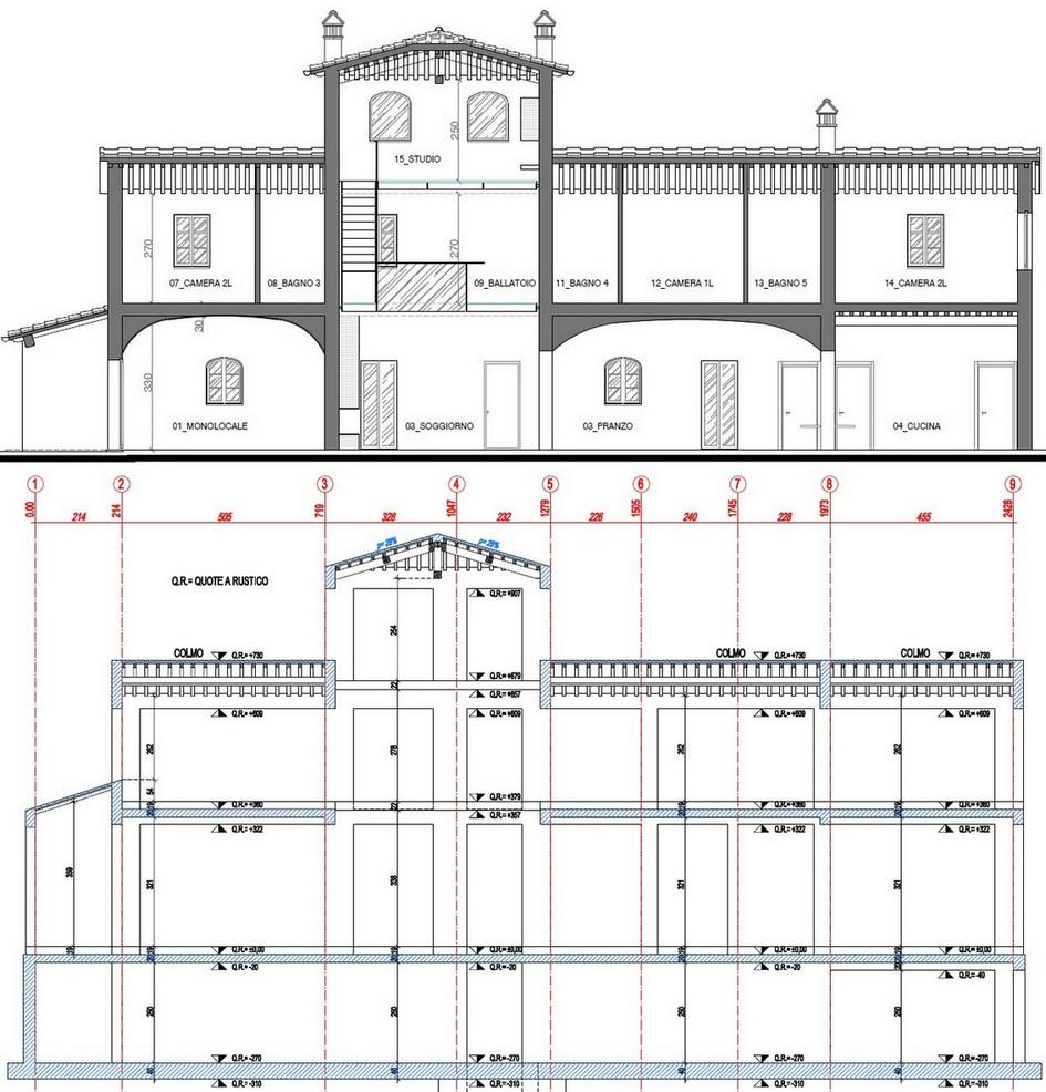Confronto tra sezioni: Architettonica e Strutturale