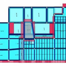 Modello geometrico edificio pianta