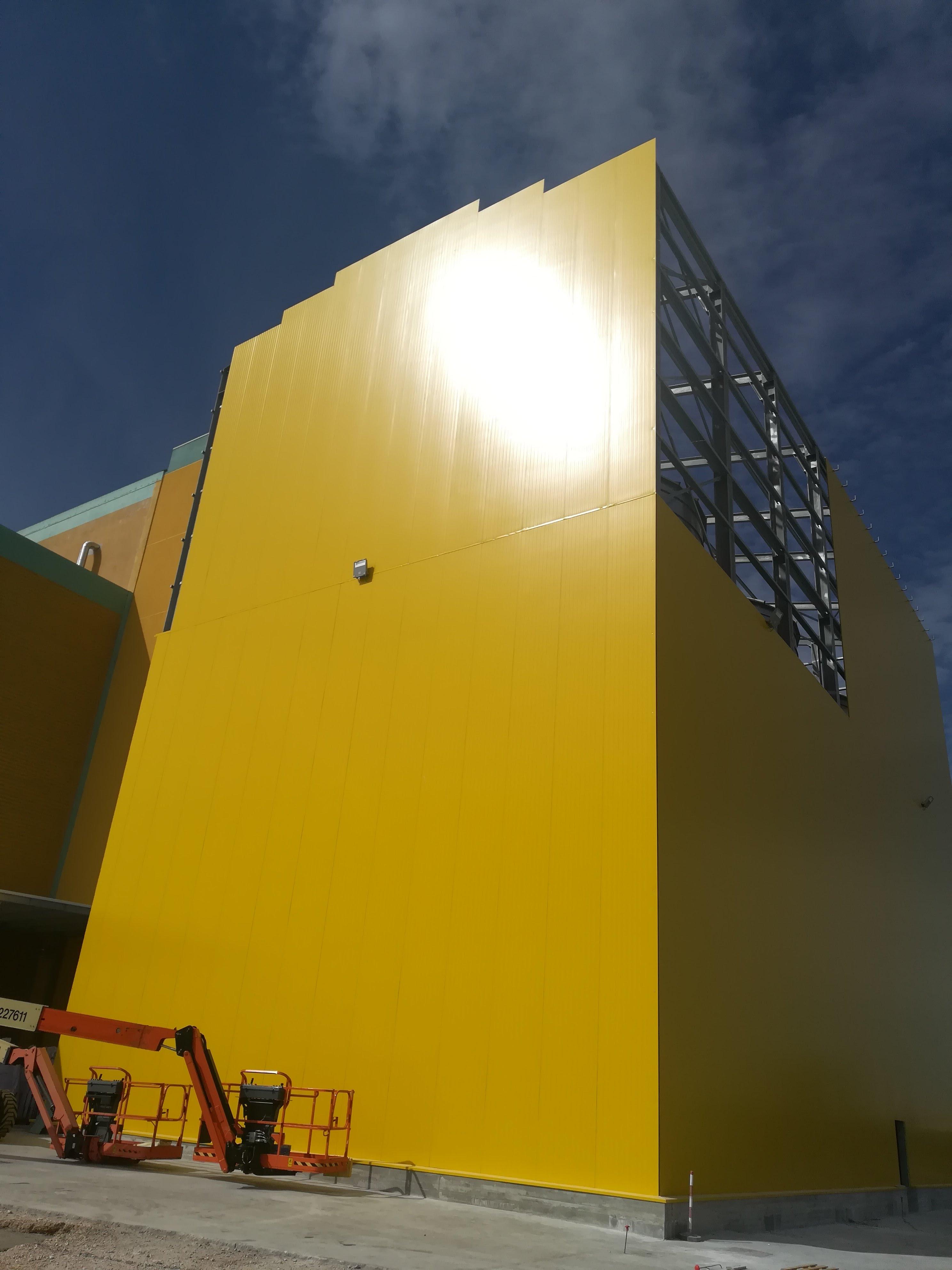 Pannellatura silos vista 1