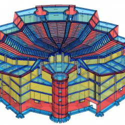 Modello strutturale Chiesa vista frontale
