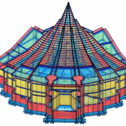Modello strutturale Chiesa - vista retro