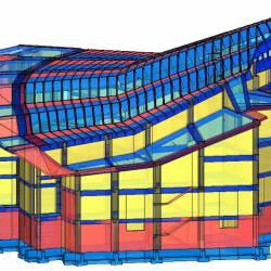 Modello strutturale Chiesa vista laterale