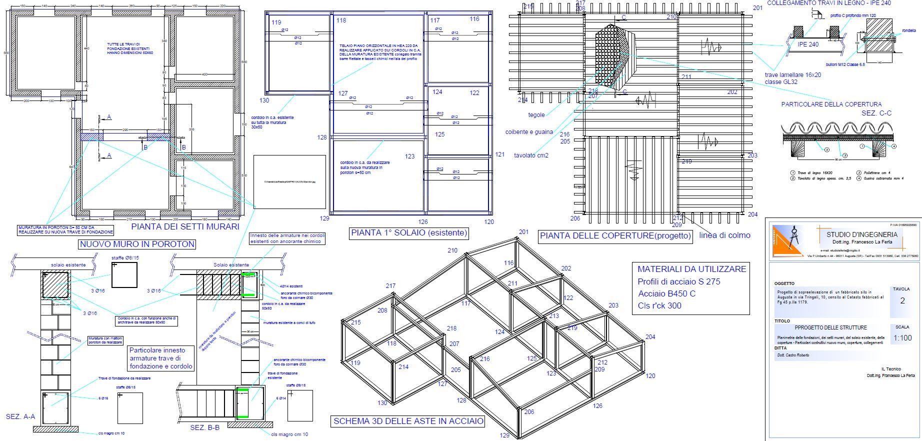 Tavola dettagli e particolasi costruttivi