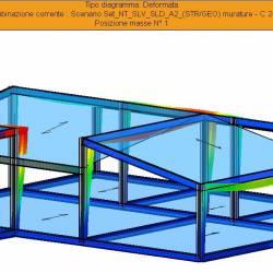 Deformata SISMAX1 sopraelevazione - vista 2