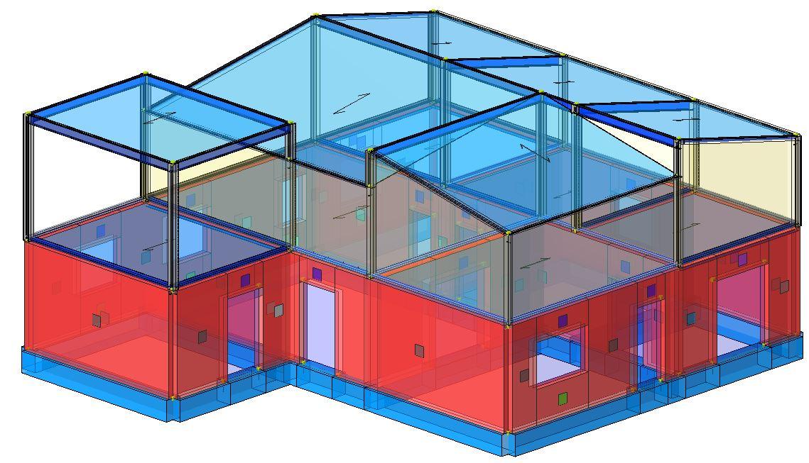 Modello strutturale - vista 1