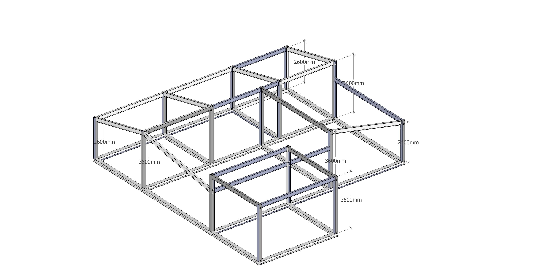 Schema strutturale in acciaio