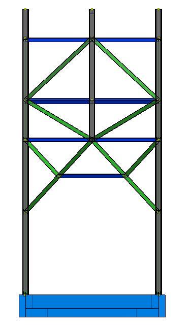 Modello strutturale - vista fronte