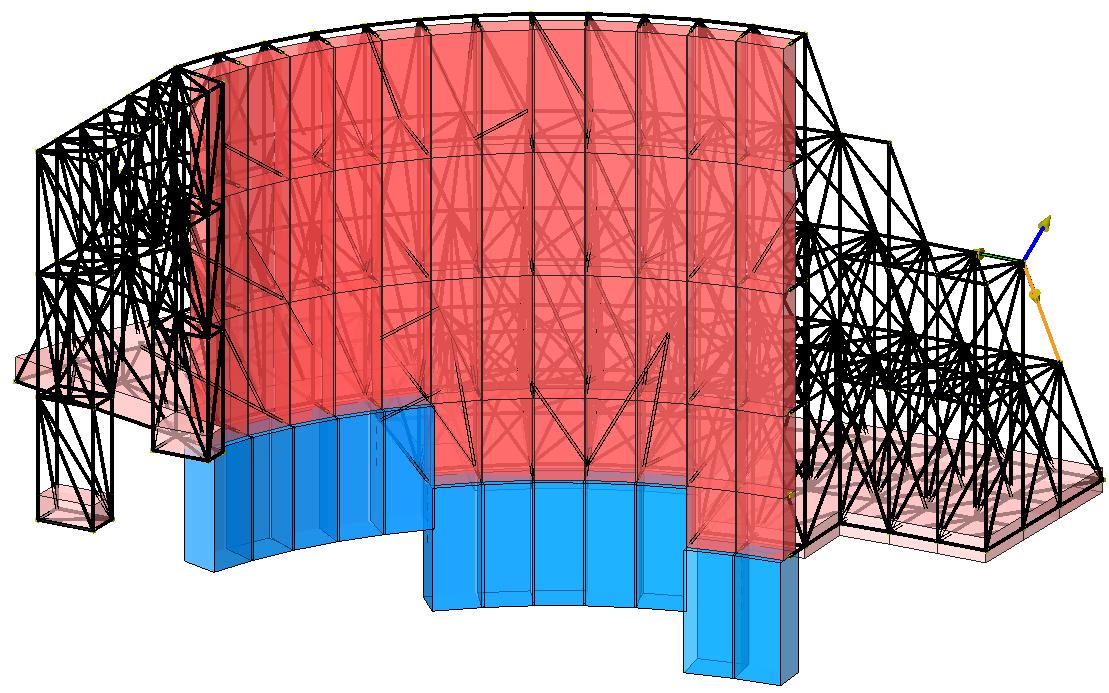 Modello strutturale 1 realizzato con IperSpace - vista 2