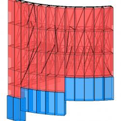 Modello strutturale 2 realizzato con IperSpace - vista 2
