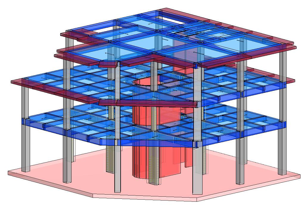 Modello strutturale IperSpace - vista 4