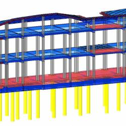 Modello strutturale aule IperSpace
