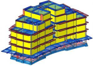 Modello strutturale con tamponature Iperspace – posteriore