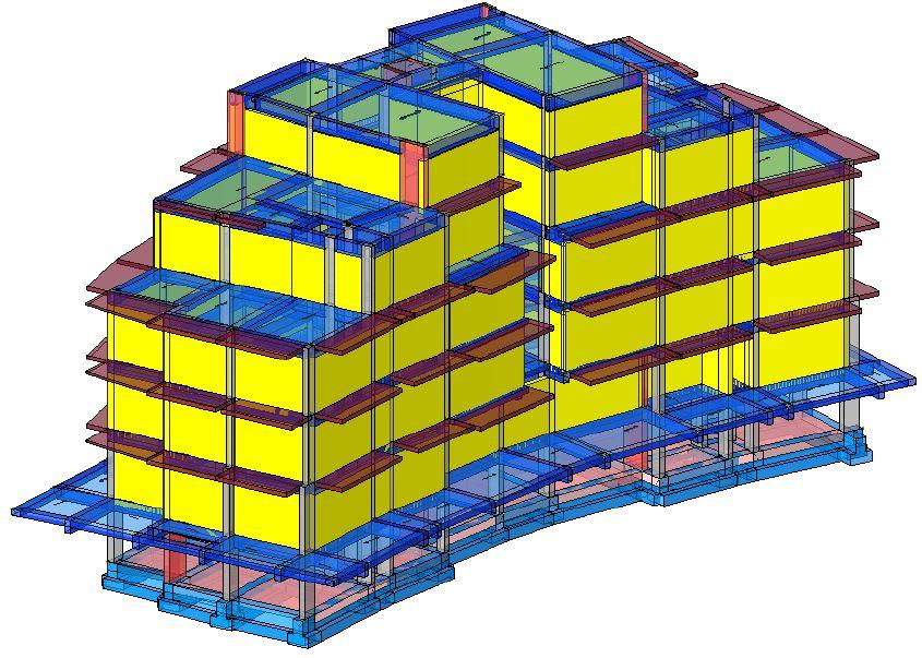 Modello strutturale con tamponature Iperspace - posteriore