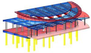 Modello strutturale salone IperSpace