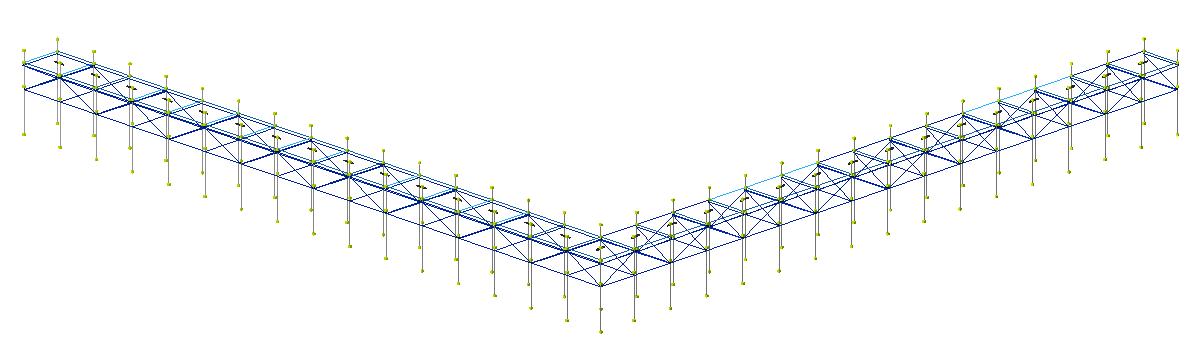 Modello FEM pontile
