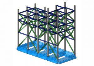 Struttura di sostegno silos