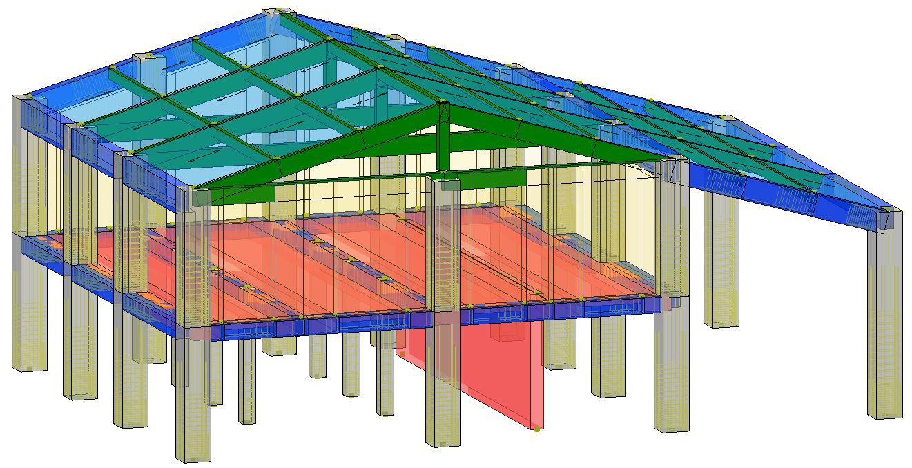 Modello strutturale IperSpace - lato SE