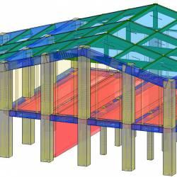 Modello strutturale IperSpace - lato NO