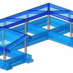 Modello strutturale IperSpace - Corpo B