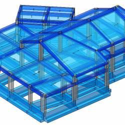 Modello strutturale IperSpace - Corpo A - laterale