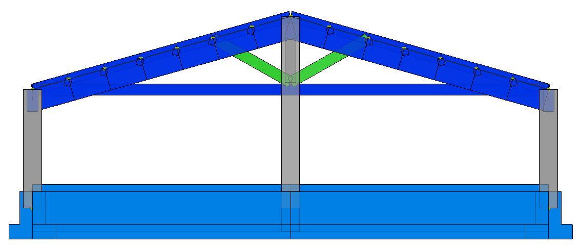 Modello strutturale IperSpace - Corpo C- fronte