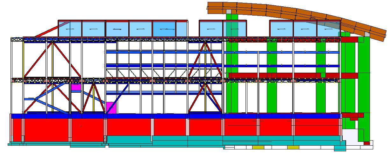 Modello strutturale IperSpace - prospetto