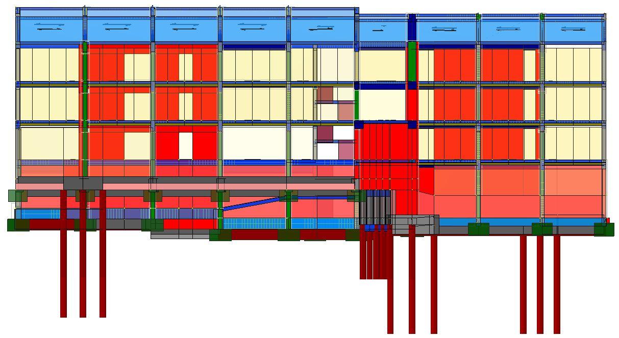 Modello strutturale frontale - IperSpace