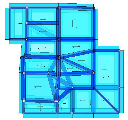 Modello strutturale IperSpace - vista dall'alto