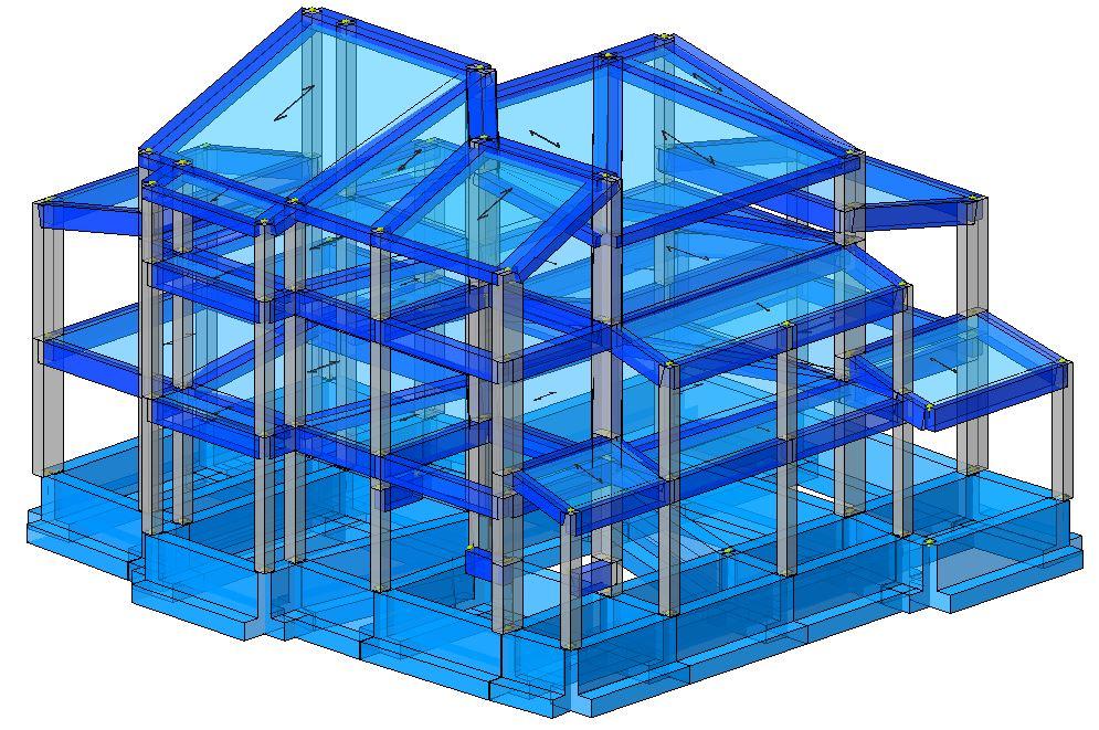 Modello strutturale edificio
