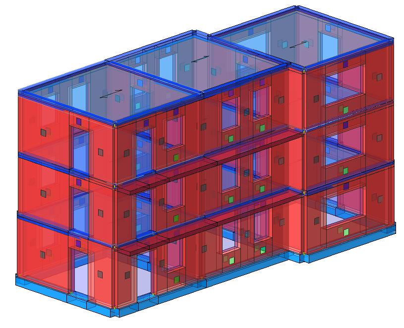 Modello strutturale edificio in muratura