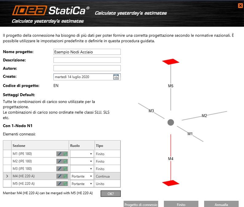 Definizione nodi con IDEA StatiCa Steel Connection